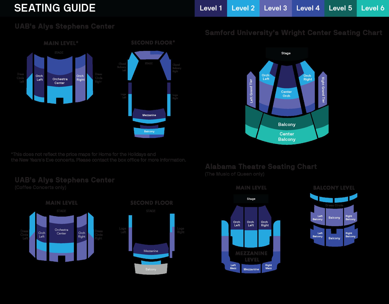 Seating Charts For Cyo
